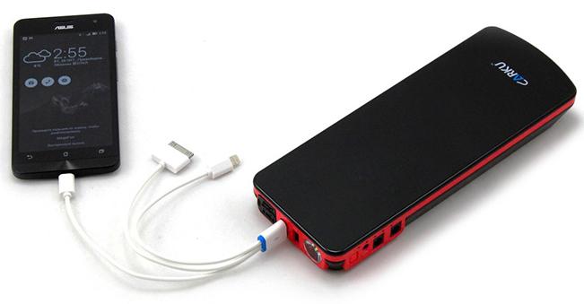 Пример работы пуско-зарядного устройства CARKU E-Power-21 фото