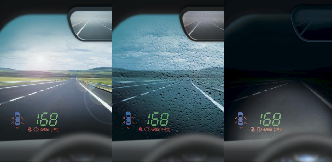 Проектор скорости на лобовое стекло автомобиля фото