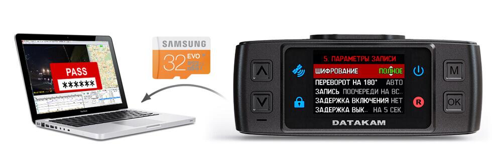 Регистратор Datakam G5 с полным шифрованием записей фото