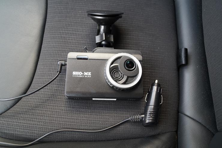 Автомобильный видеорегистратор и радар детектор Sho-Me Combo Slim фото